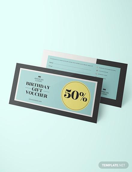 birthday voucher design