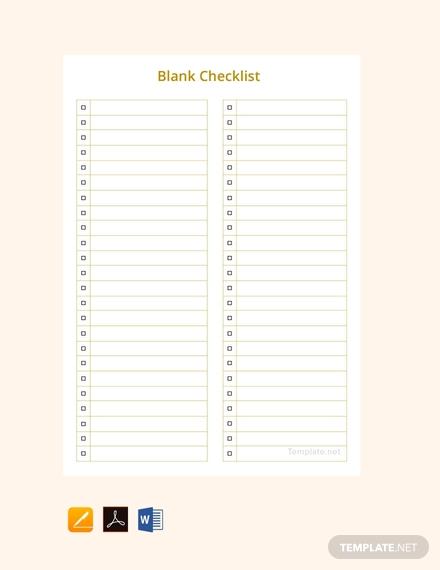 blank checklist template1
