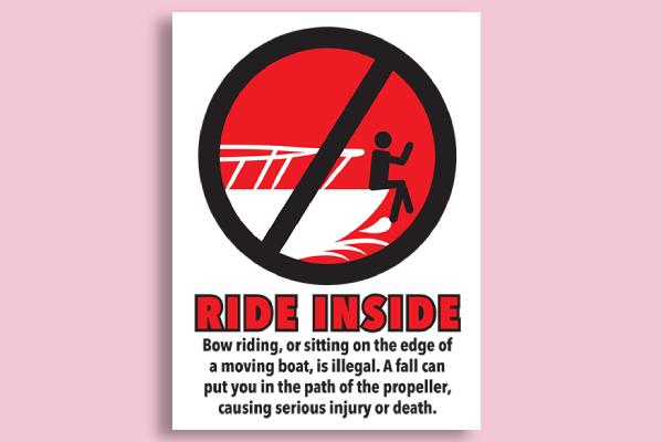 boating safety sign