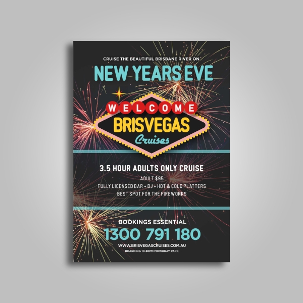 brisvegas cruise new year poster