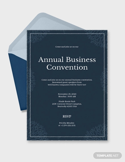 business event invitation in psd
