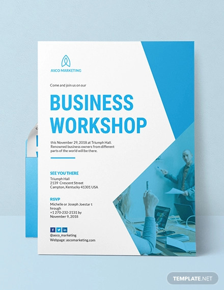 business invitation card example