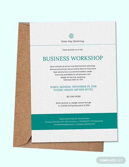business invitation example