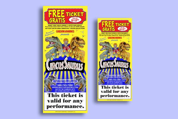 carson barnes circus ticket