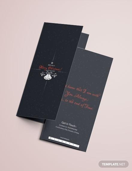 chalkboard christmas tri fold brochure