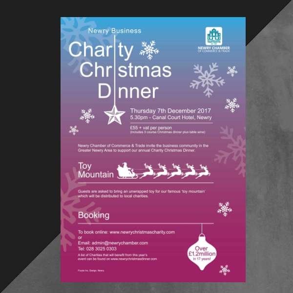 charity christmas dinner invitation
