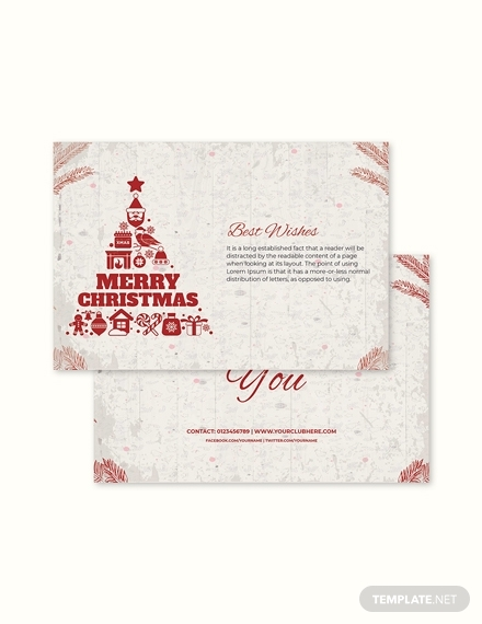 childrens christmas thank you card