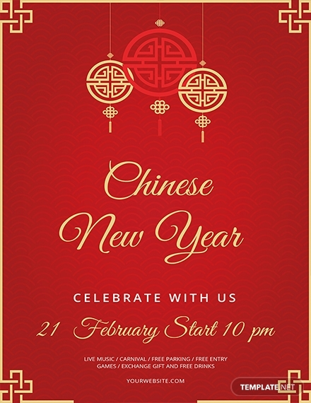 chinese new year flyer sample