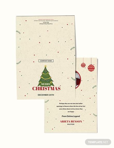 christmas bonus thank you card