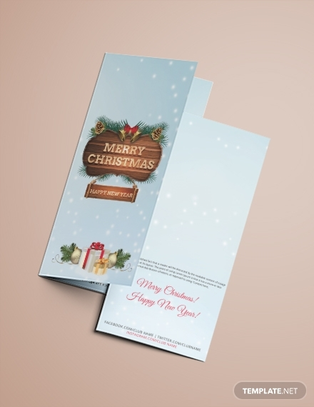 christmas event tri fold brochure