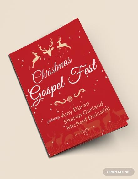 christmas fest bi fold brochure