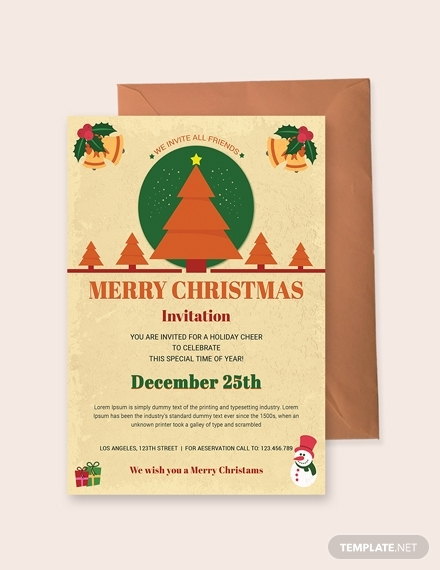 christmas holiday invitation