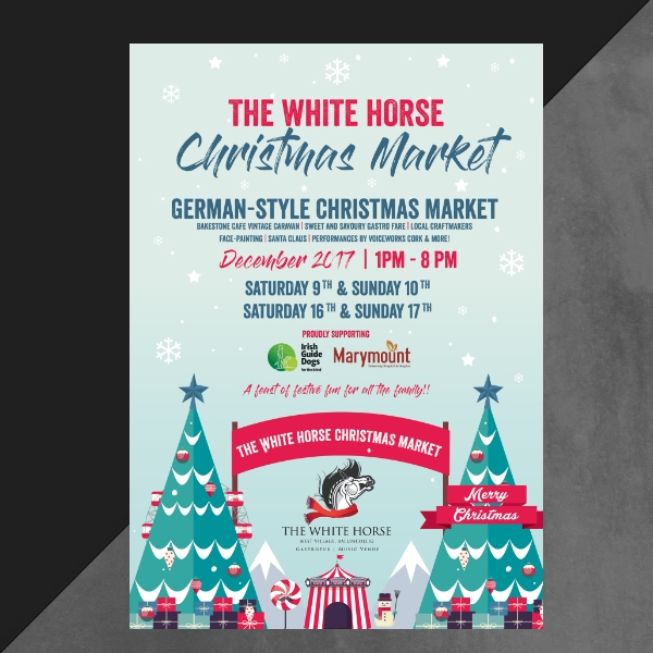 christmas market event invitation