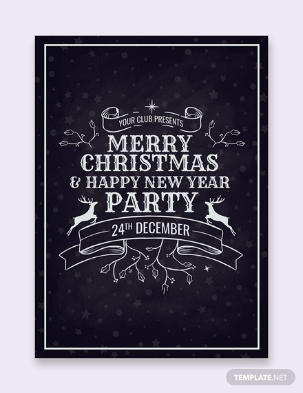 christmas party invitation card design