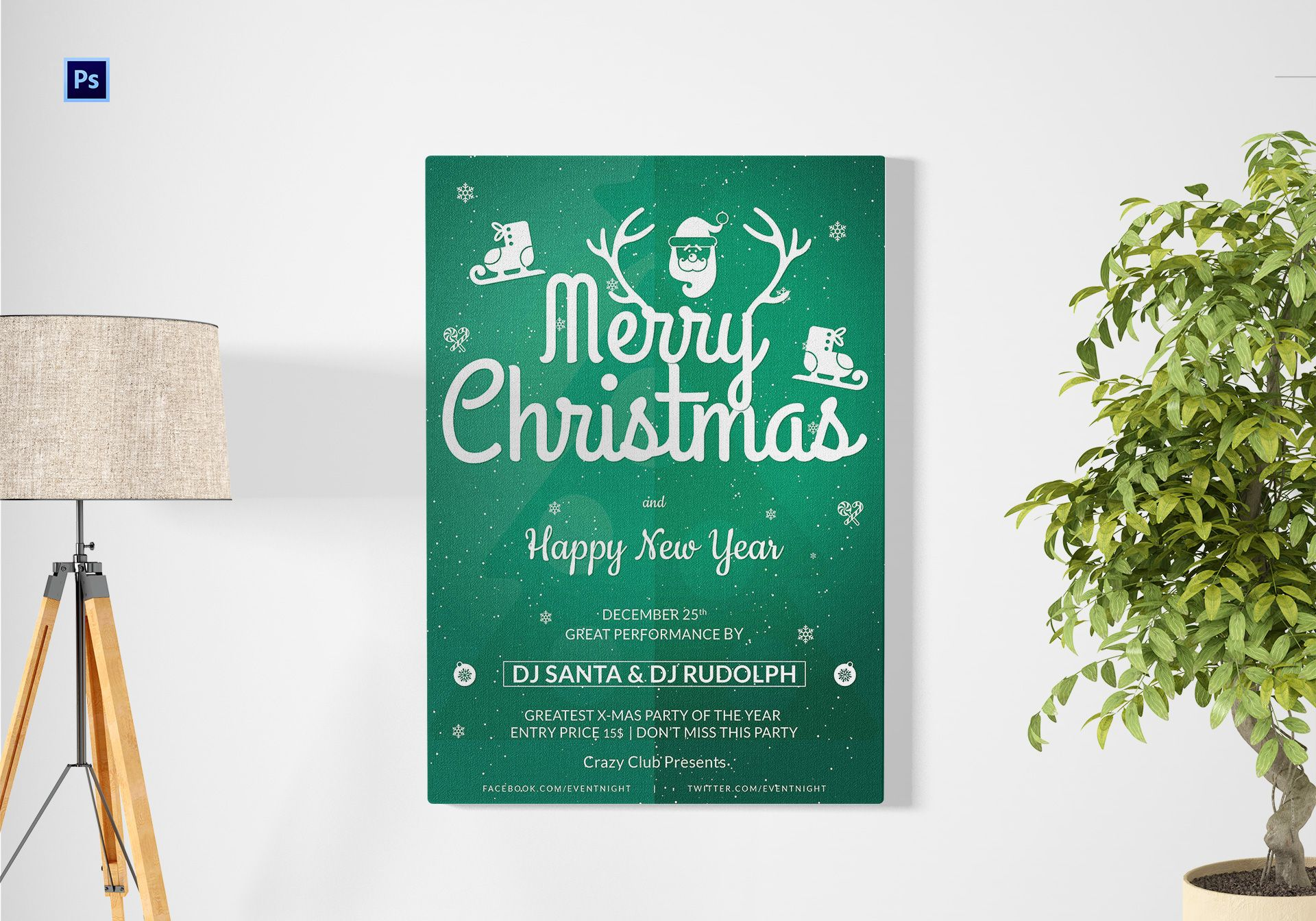 christmas and new year club poster1