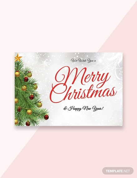 christmas and new year greeting card sample
