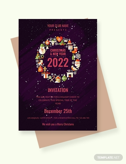 christmas and new year invitation