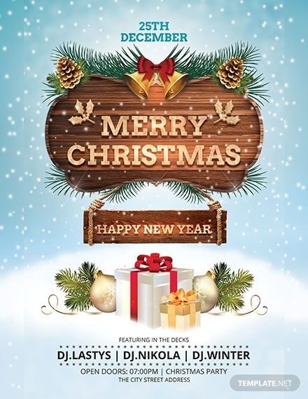 christmas and new year poster