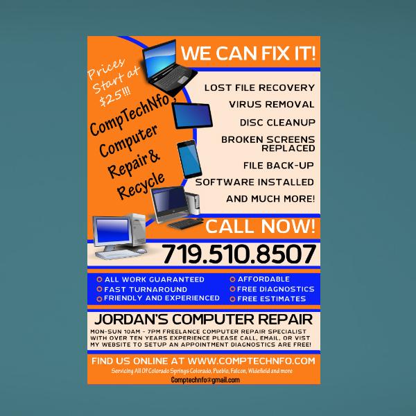 colorado springs computer repair flyer
