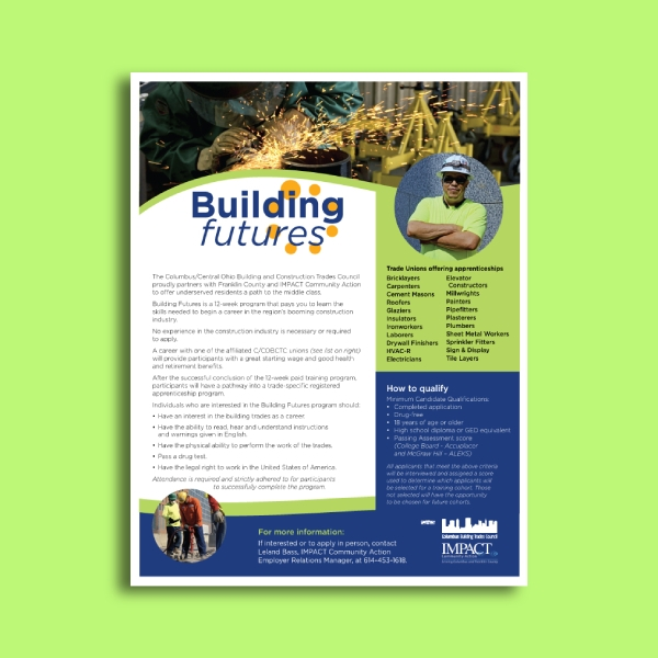columbus building construction company flyer