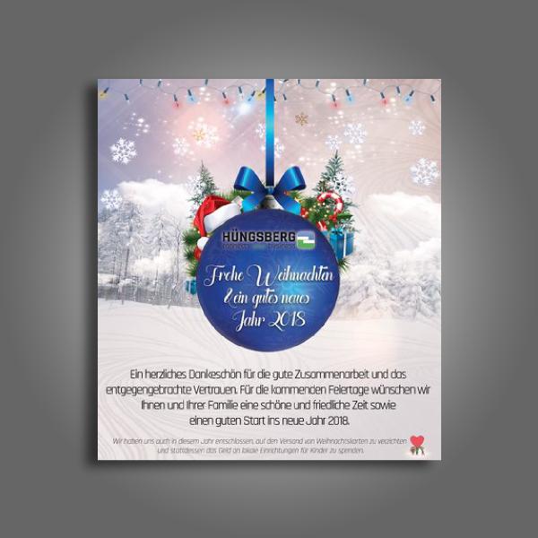 company christmas thank you card