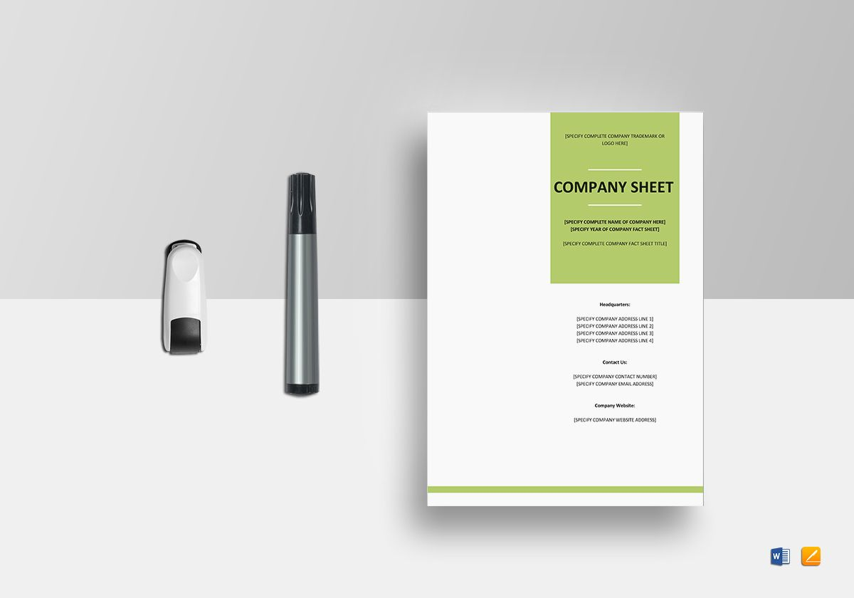 company fund fact sheet