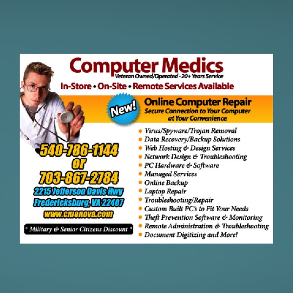 computer repair business flyer