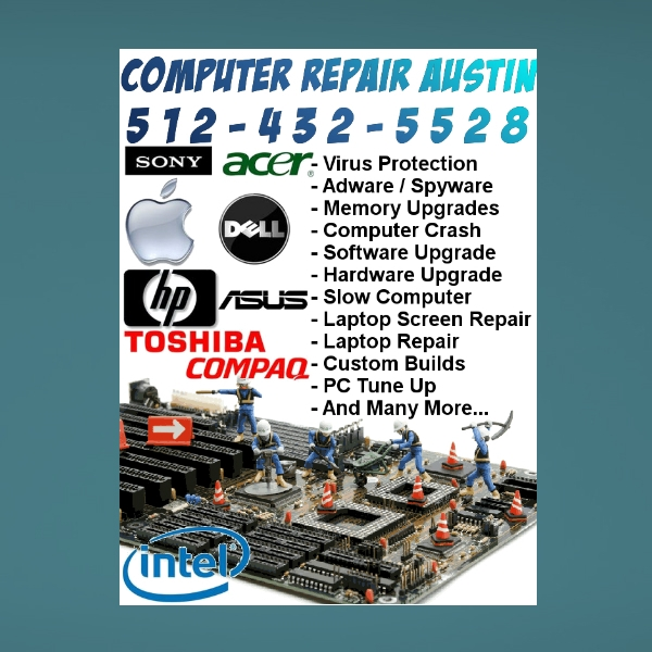 computer and smartphone repair flyer