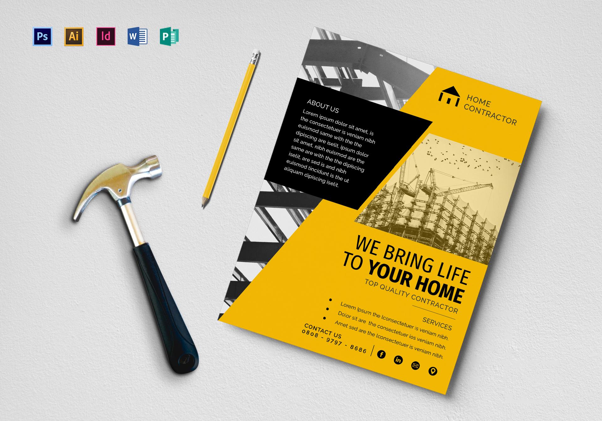 Construction Company Contractor Flyer