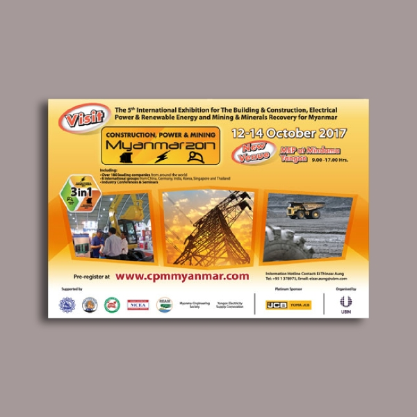 construction power and mining myanmar construction company flyer