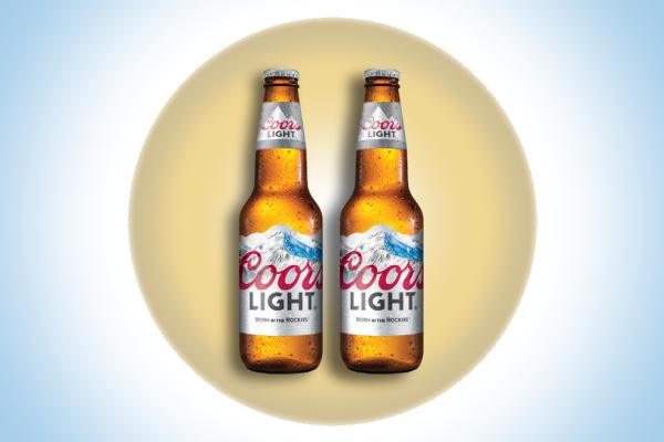 coors light beer label