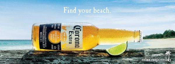 corona extra beer label