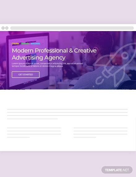 creative agency website header