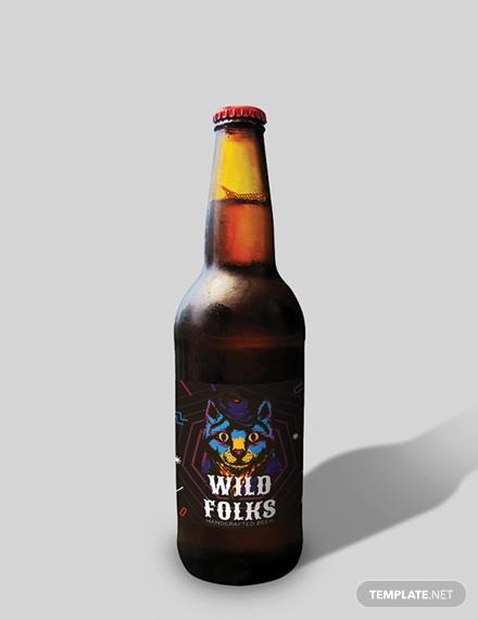 creative beer label