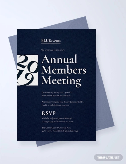creative business meeting invitation