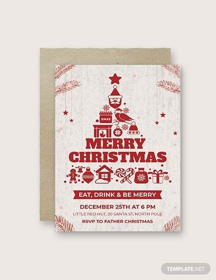 creative christmas invitation