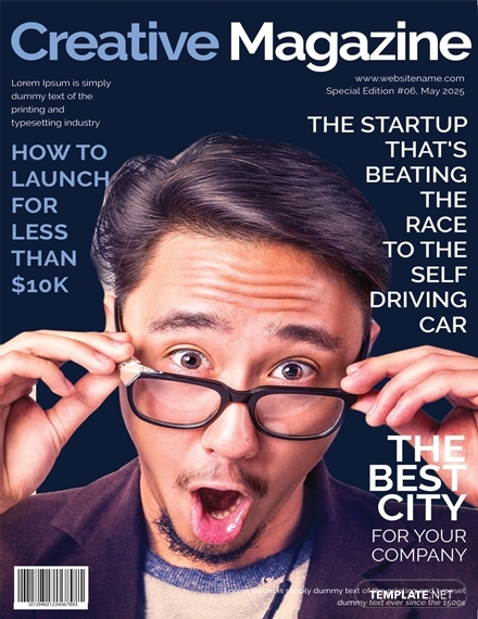 creative magazine cover page