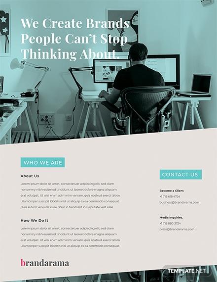 creative marketing flyer