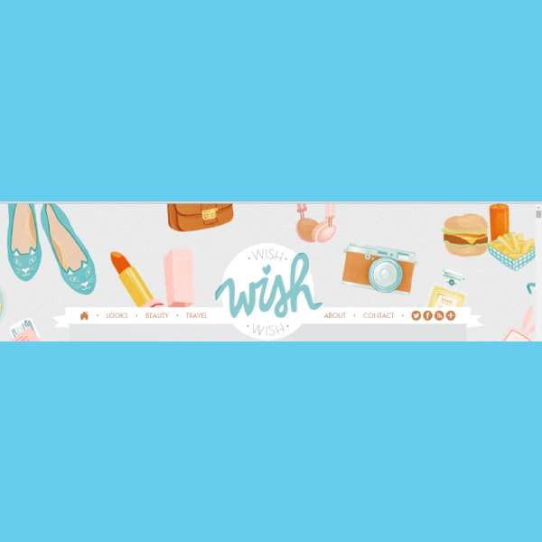 cute colorful blog header