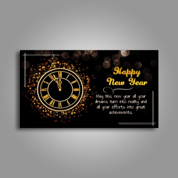 cute new year greeting card