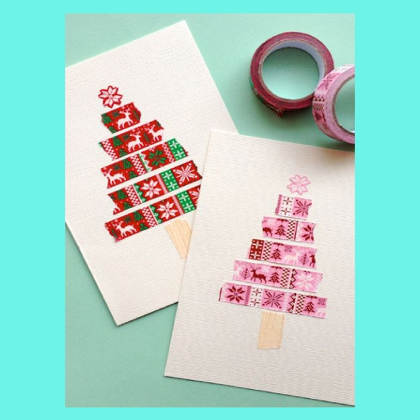 cute simple christmas postcard