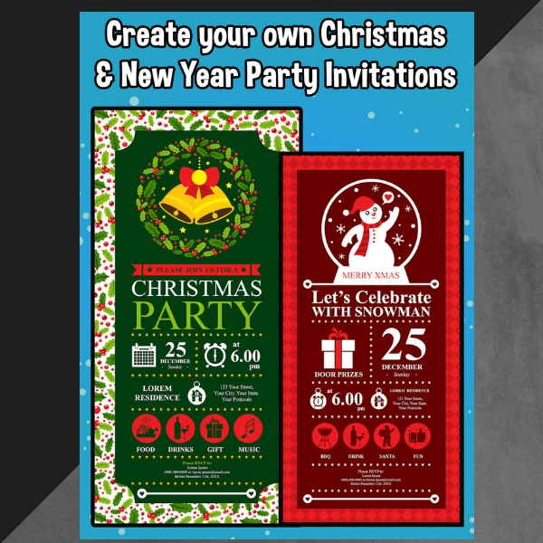 diy christmas party invitation