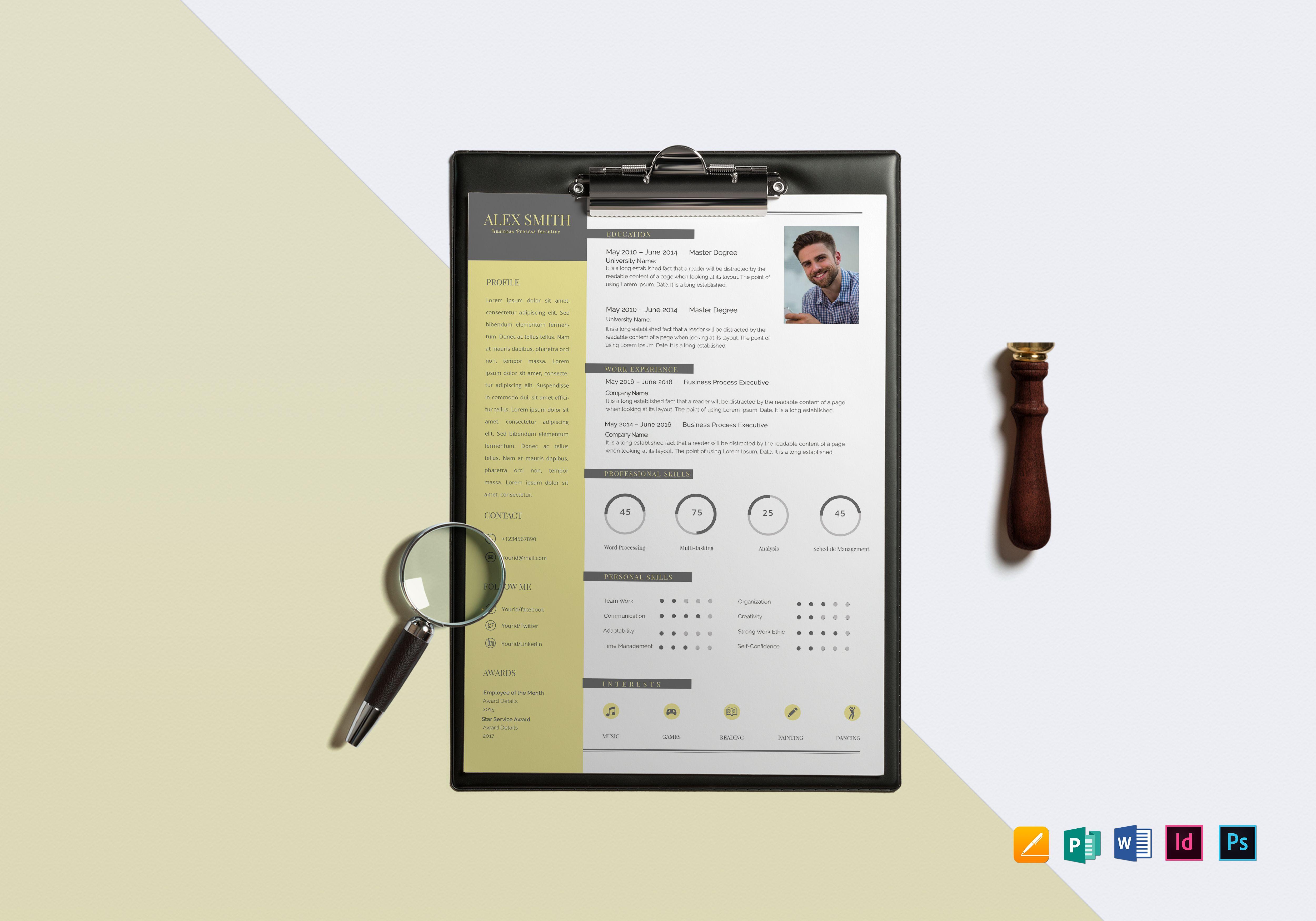 designer bpo resume template