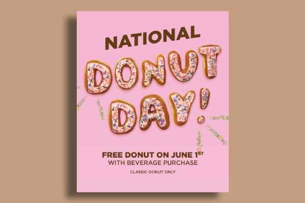 dunkin donuts national donut day poster