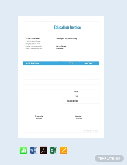 education invoice
