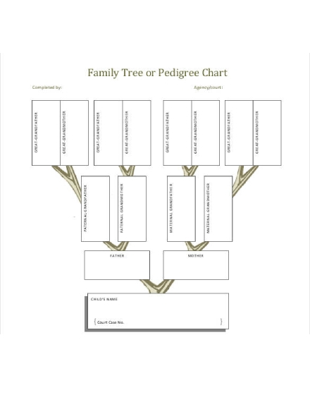 family tree or pedigree chart