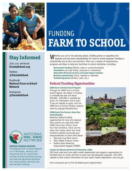 farm to school fund fact sheet