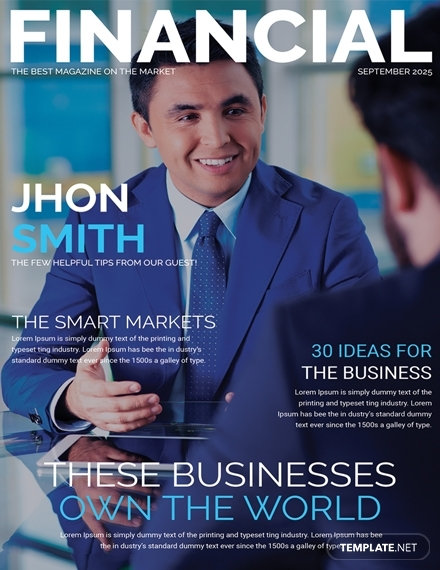financial magazine cover page