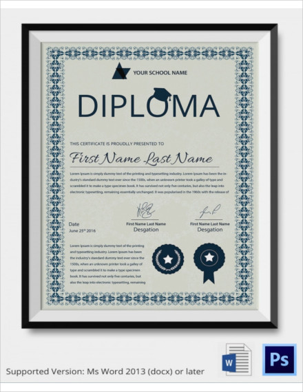 framed school diploma