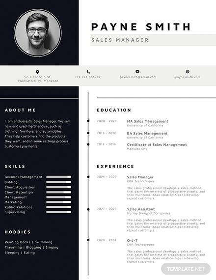 free corporate resume sample